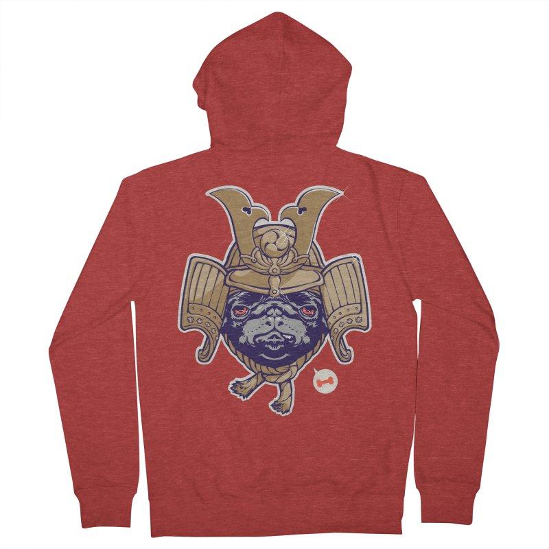 Samurai PUG Men's Zip-Up Hoody by dracoimagem's Artist Shop