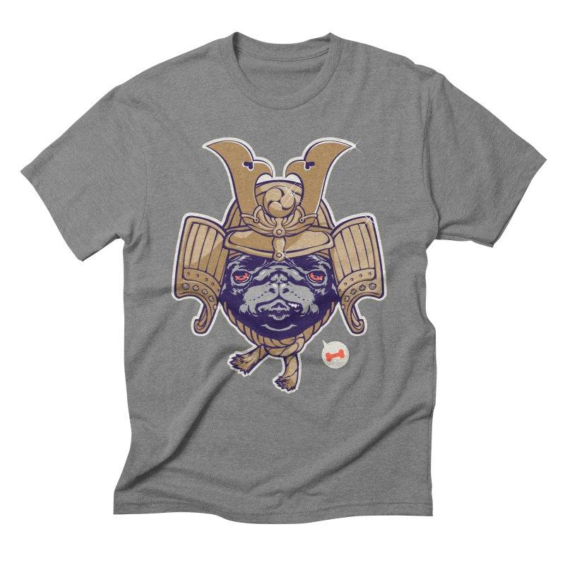 Samurai PUG Men's Triblend T-shirt by dracoimagem's Artist Shop