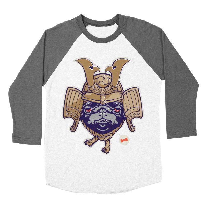 Samurai PUG Women's Baseball Triblend T-Shirt by dracoimagem's Artist Shop