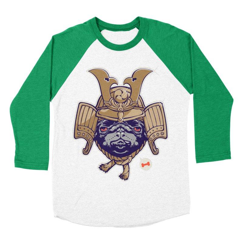 Samurai PUG Men's Baseball Triblend T-Shirt by dracoimagem's Artist Shop