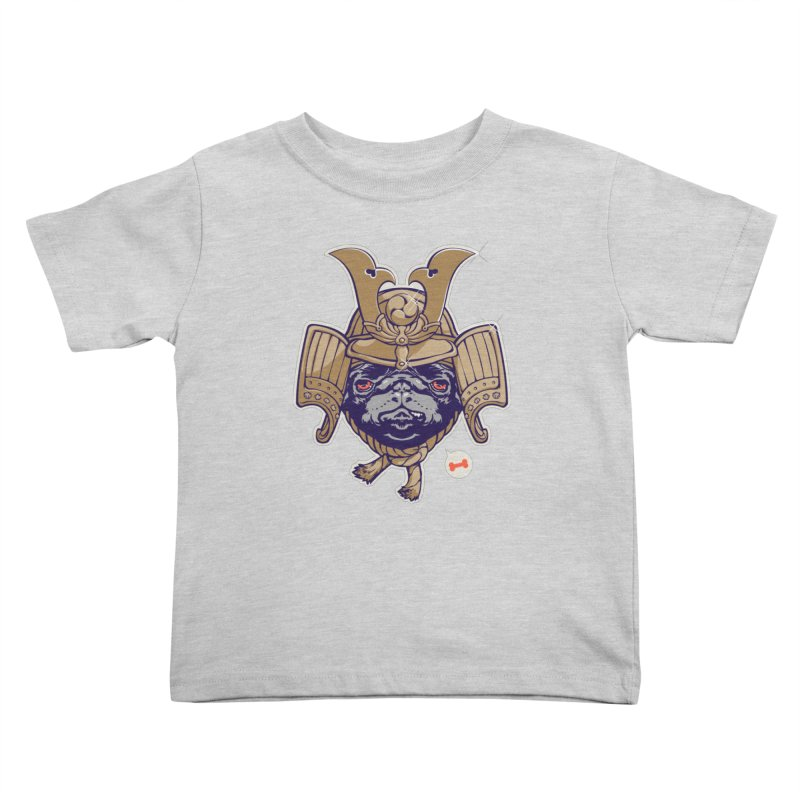 Samurai PUG Kids Toddler T-Shirt by dracoimagem's Artist Shop