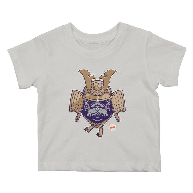 Samurai PUG Kids Baby T-Shirt by dracoimagem's Artist Shop