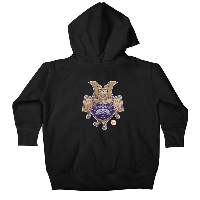 Samurai PUG Kids Baby Zip-Up Hoody by dracoimagem's Artist Shop