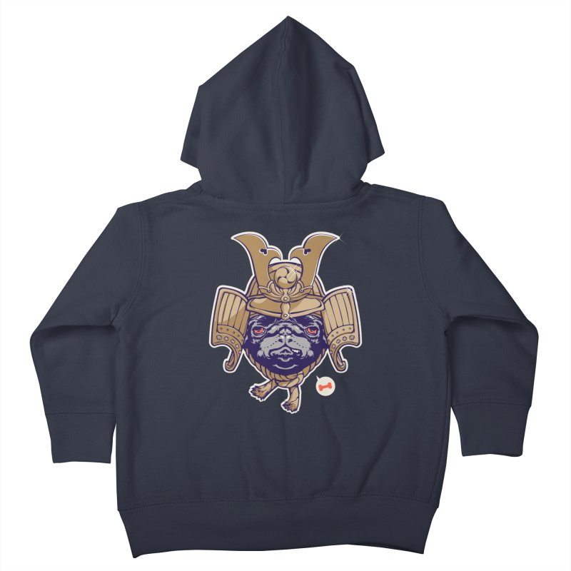 Samurai PUG Kids Toddler Zip-Up Hoody by dracoimagem's Artist Shop