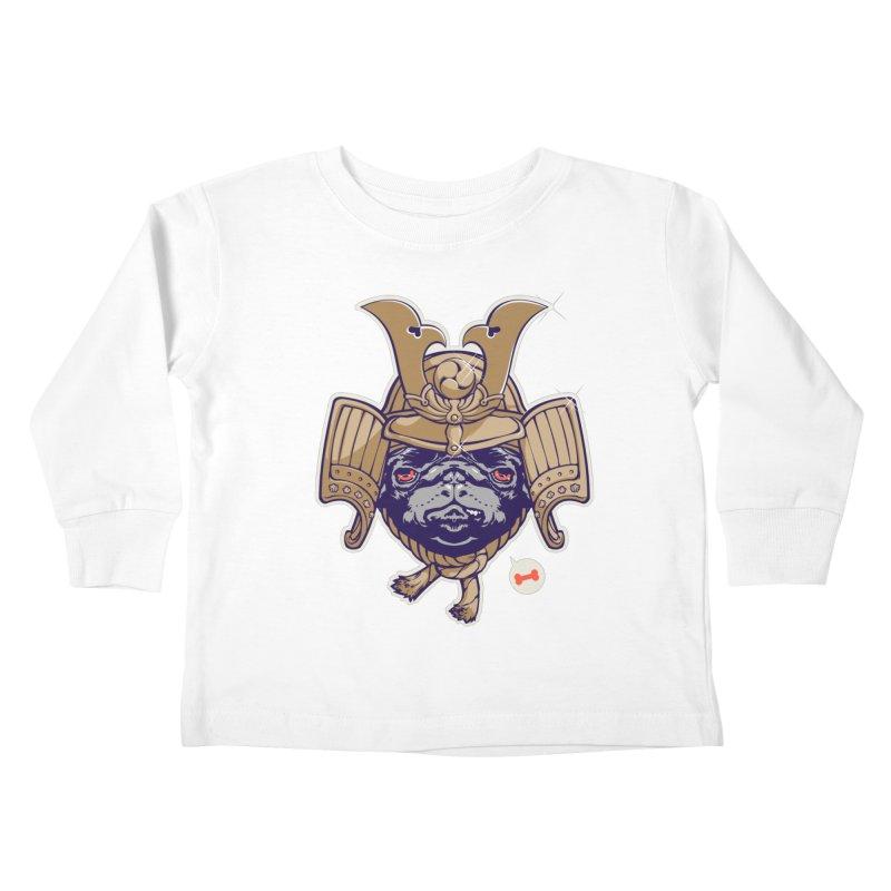 Samurai PUG Kids Toddler Longsleeve T-Shirt by dracoimagem's Artist Shop