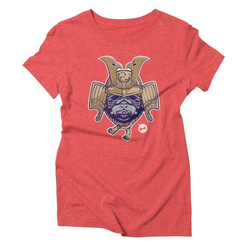 Samurai PUG Women's Triblend T-shirt by dracoimagem's Artist Shop