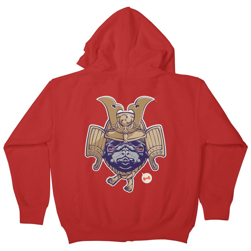 Samurai PUG Kids Zip-Up Hoody by dracoimagem's Artist Shop