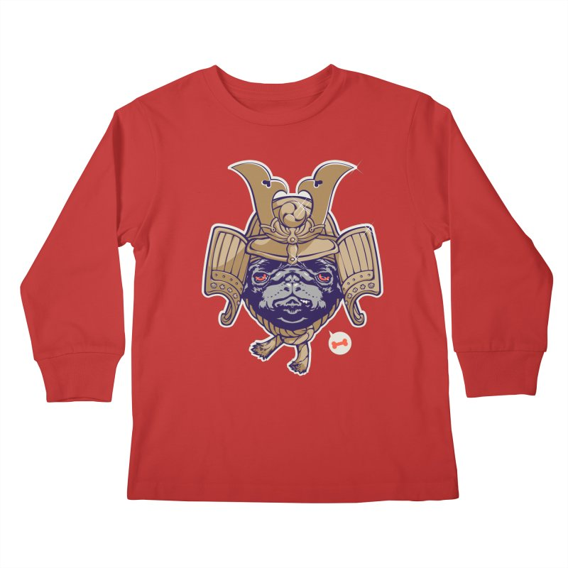 Samurai PUG Kids Longsleeve T-Shirt by dracoimagem's Artist Shop