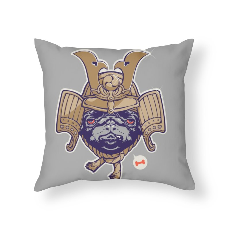 Samurai PUG Home Throw Pillow by dracoimagem's Artist Shop