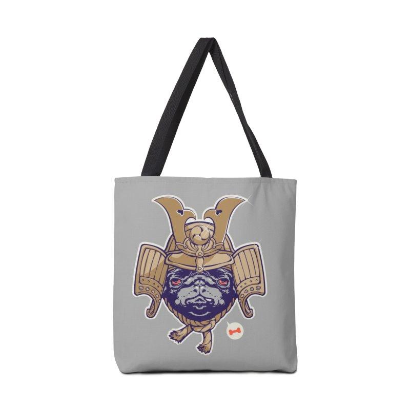 Samurai PUG Accessories Bag by dracoimagem's Artist Shop
