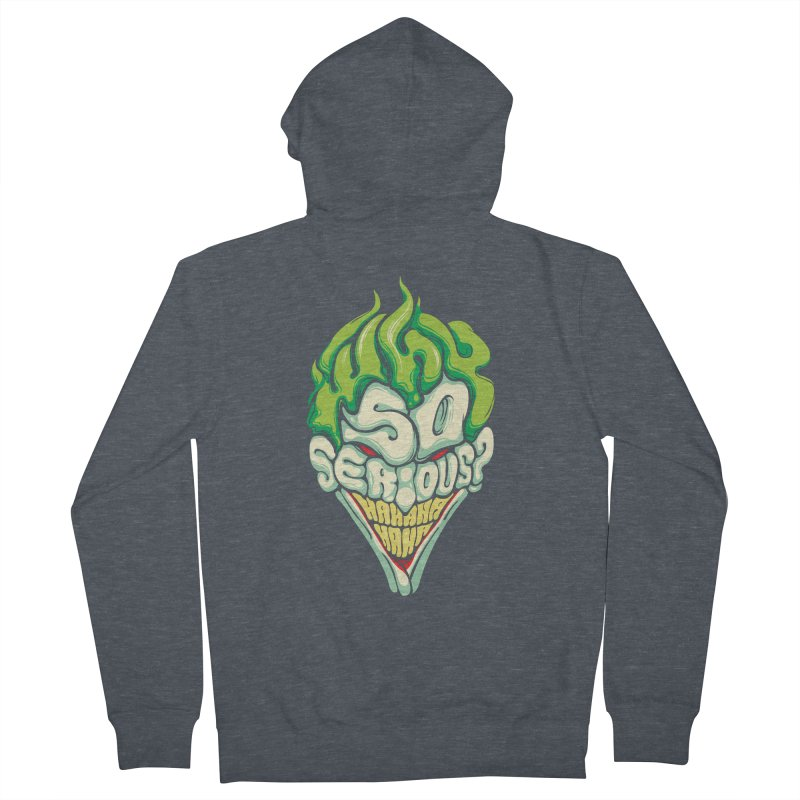 Why so Serious Men's Zip-Up Hoody by dracoimagem's Artist Shop