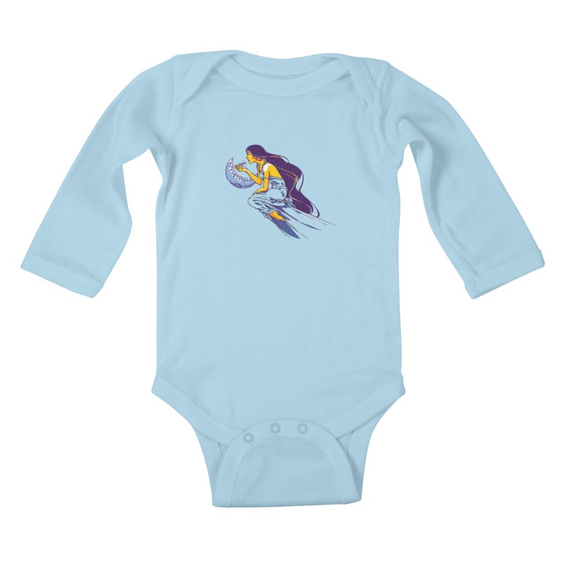Eating the moon Kids Baby Longsleeve Bodysuit by dracoimagem's Artist Shop