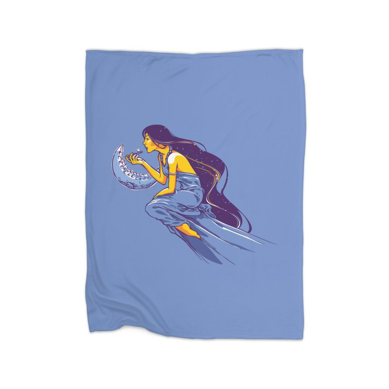 Eating the moon Home Blanket by dracoimagem's Artist Shop