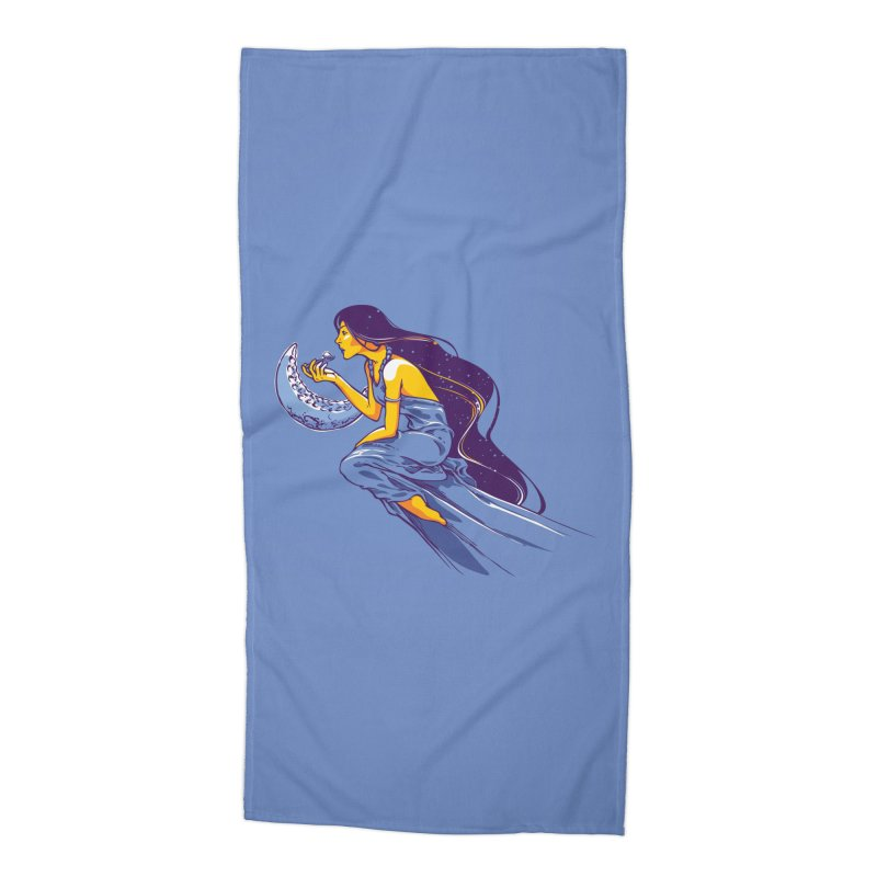 Eating the moon Accessories Beach Towel by dracoimagem's Artist Shop