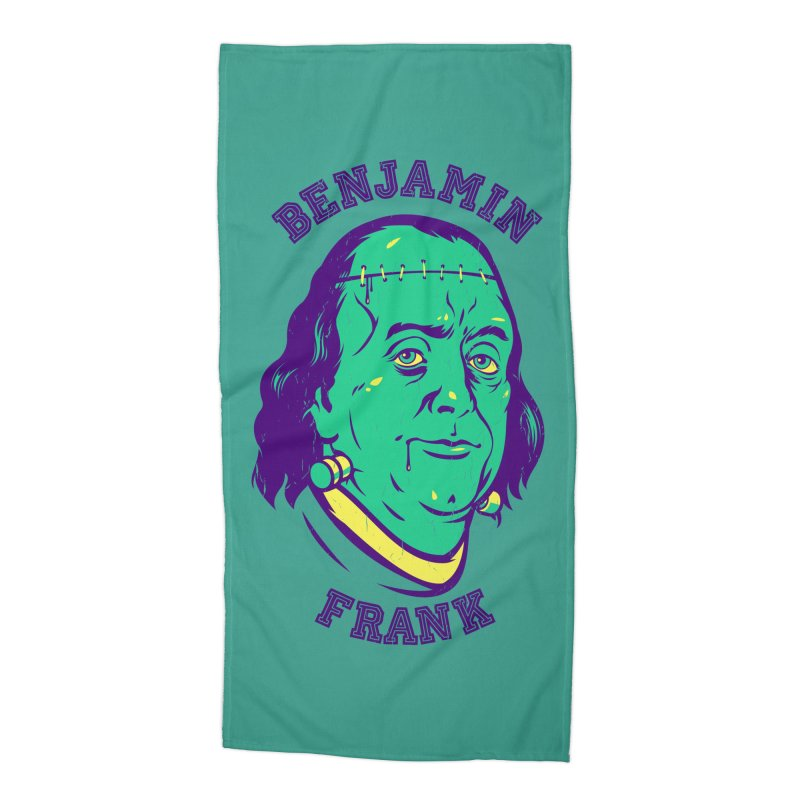 Benjamin Frank Accessories Beach Towel by dracoimagem's Artist Shop
