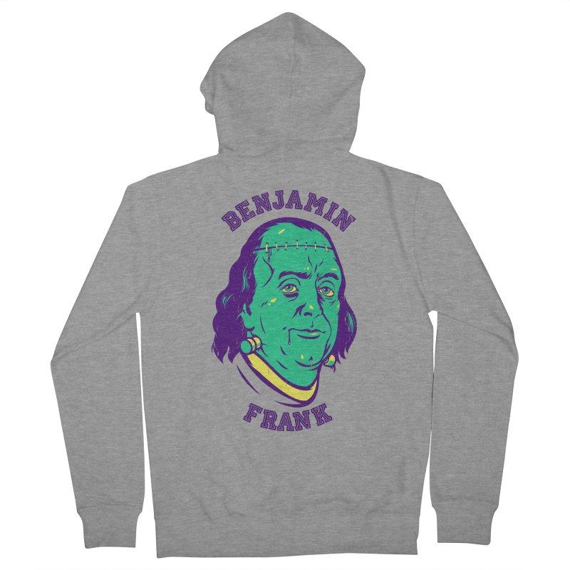 Benjamin Frank Men's Zip-Up Hoody by dracoimagem's Artist Shop