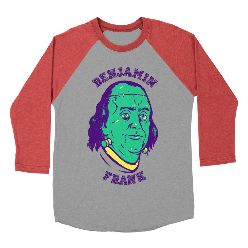 Benjamin Frank Women's Baseball Triblend T-Shirt by dracoimagem's Artist Shop