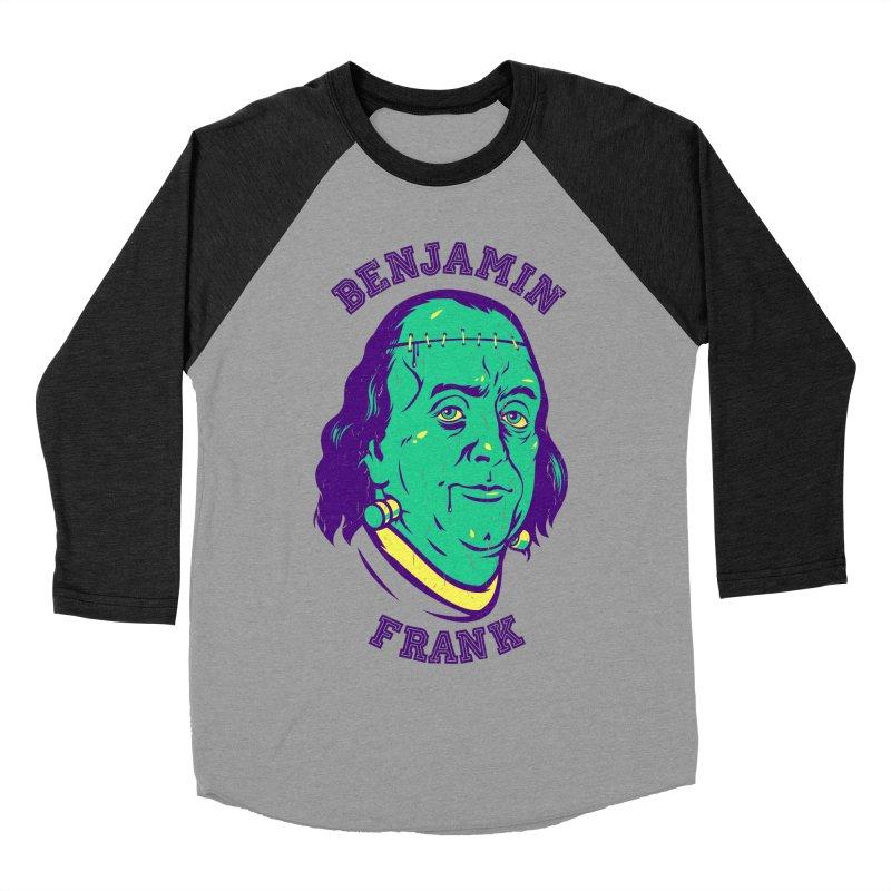 Benjamin Frank Men's Baseball Triblend T-Shirt by dracoimagem's Artist Shop