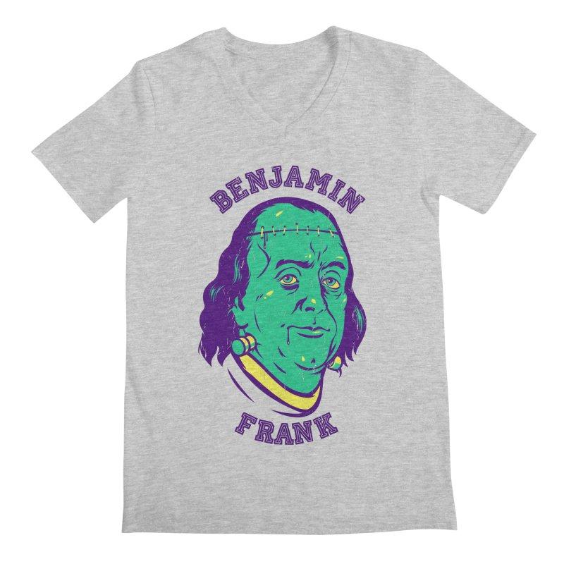 Benjamin Frank Men's V-Neck by dracoimagem's Artist Shop