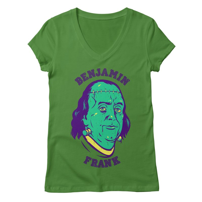 Benjamin Frank Women's V-Neck by dracoimagem's Artist Shop
