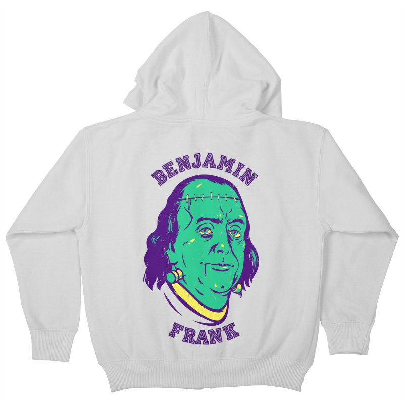 Benjamin Frank Kids Zip-Up Hoody by dracoimagem's Artist Shop