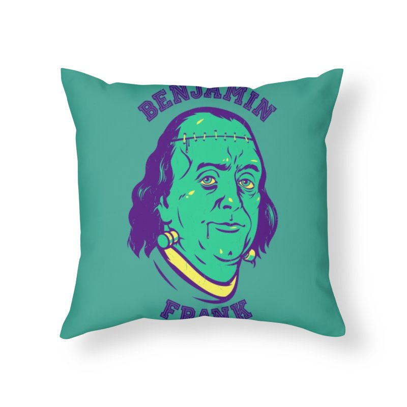 Benjamin Frank Home Throw Pillow by dracoimagem's Artist Shop