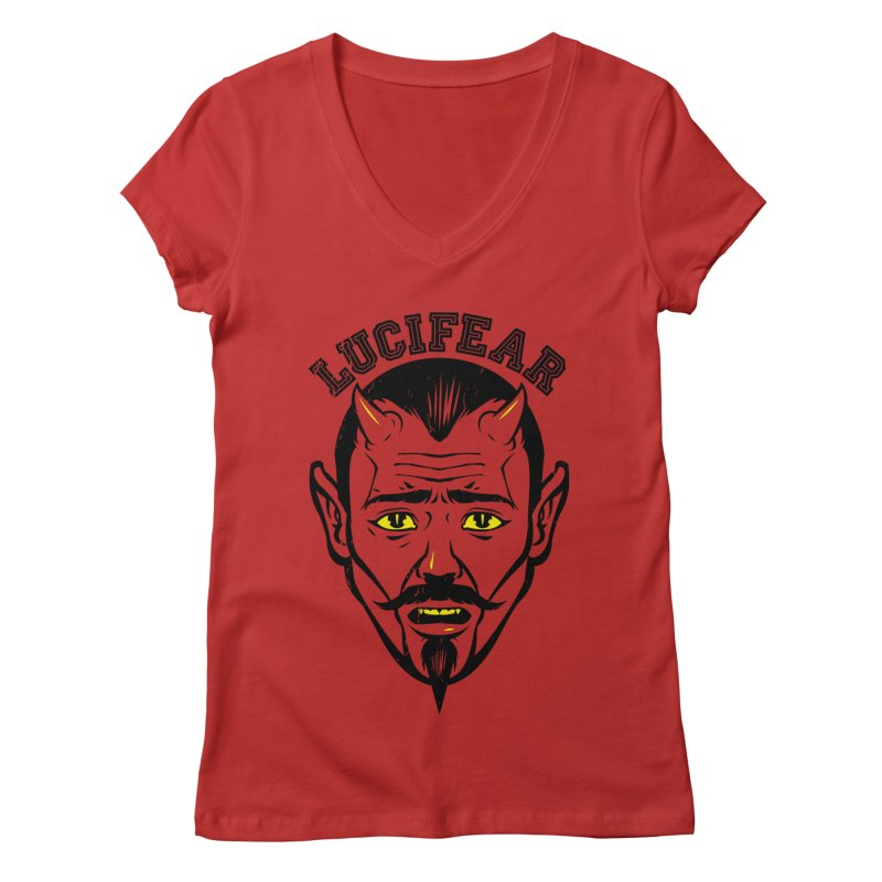 Lucifear Women's V-Neck by dracoimagem's Artist Shop