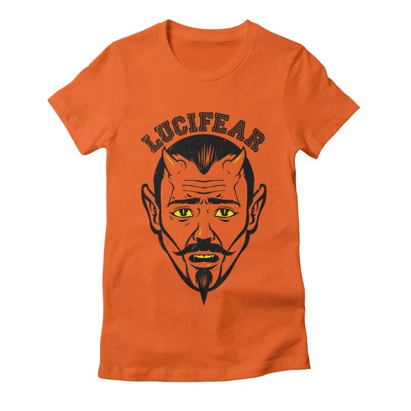 Lucifear Women's Fitted T-Shirt by dracoimagem's Artist Shop