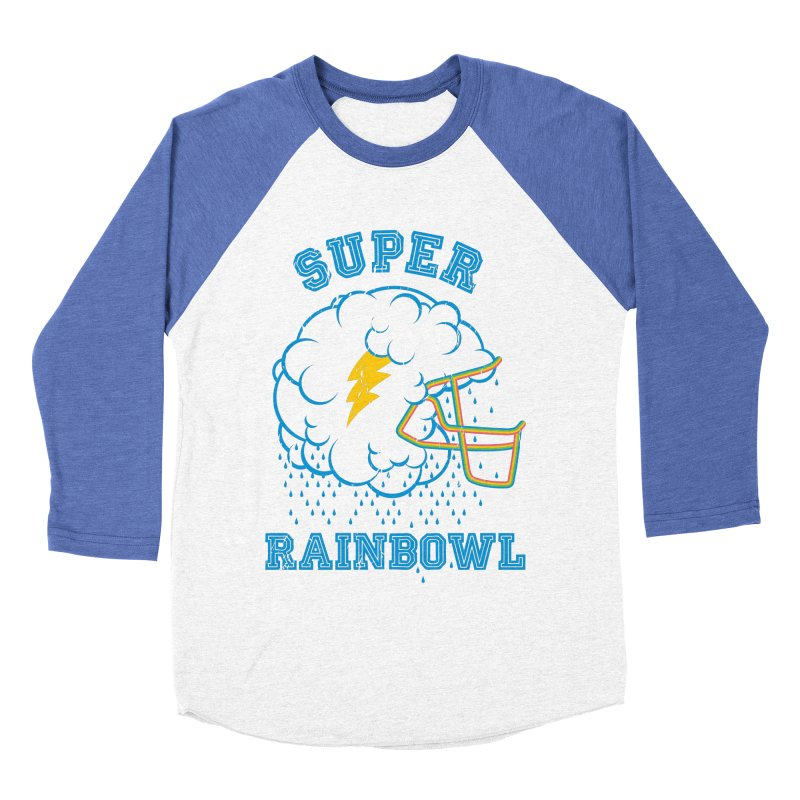 Super Rainbowl Men's Baseball Triblend T-Shirt by dracoimagem's Artist Shop