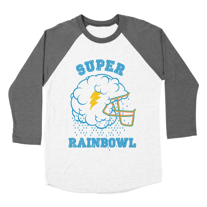 Super Rainbowl Men's Baseball Triblend T-Shirt by dracoimagem's Artist Shop