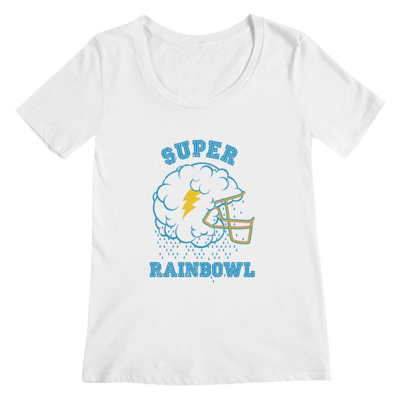 Super Rainbowl Women's Scoopneck by dracoimagem's Artist Shop