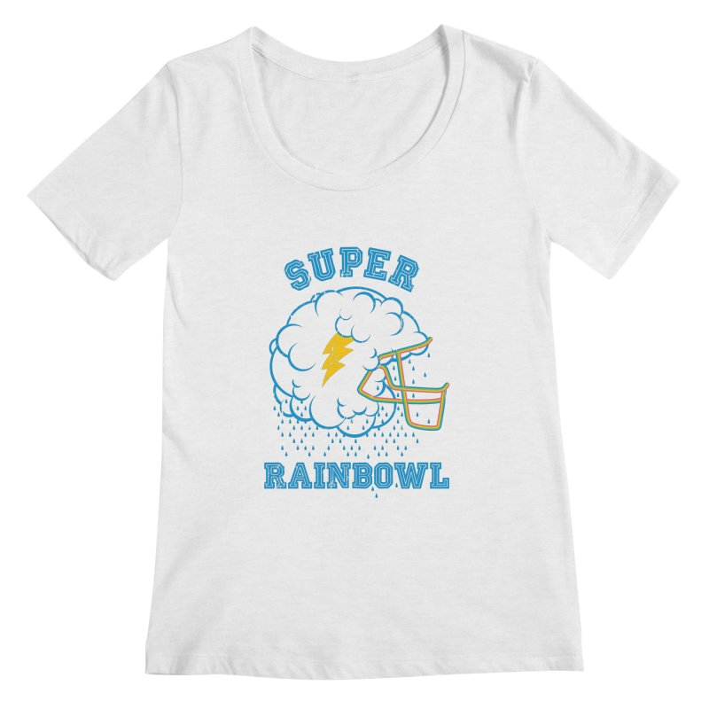 Super Rainbowl Women's Scoopneck by dracoimagem's Artist Shop