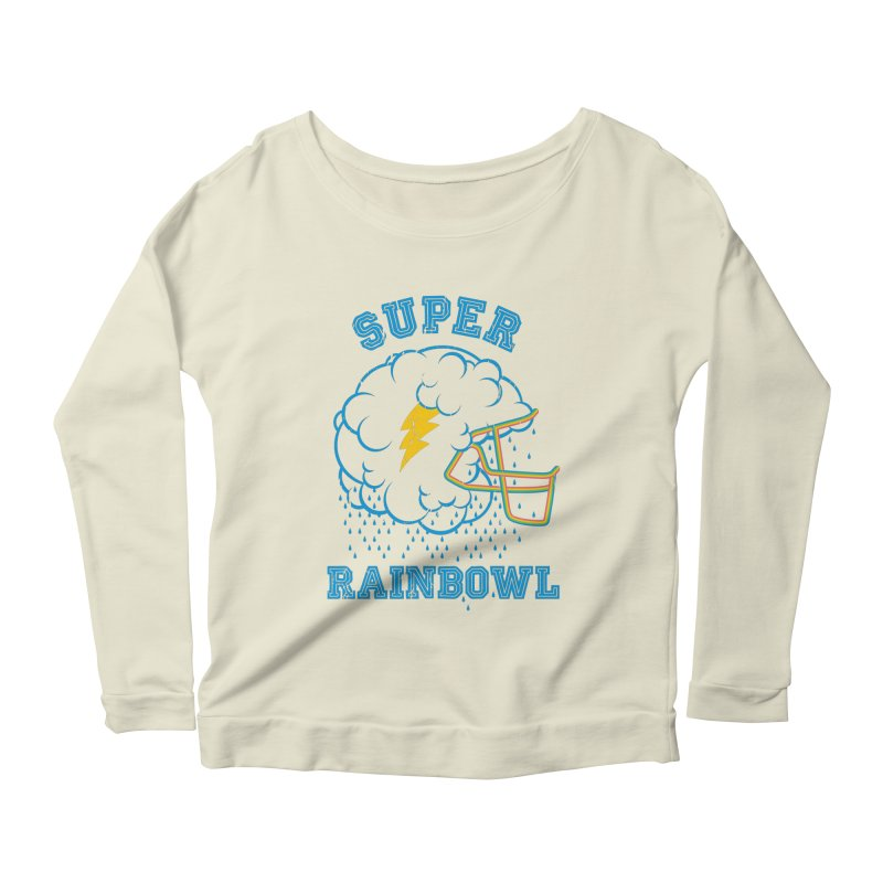 Super Rainbowl Women's Longsleeve Scoopneck  by dracoimagem's Artist Shop