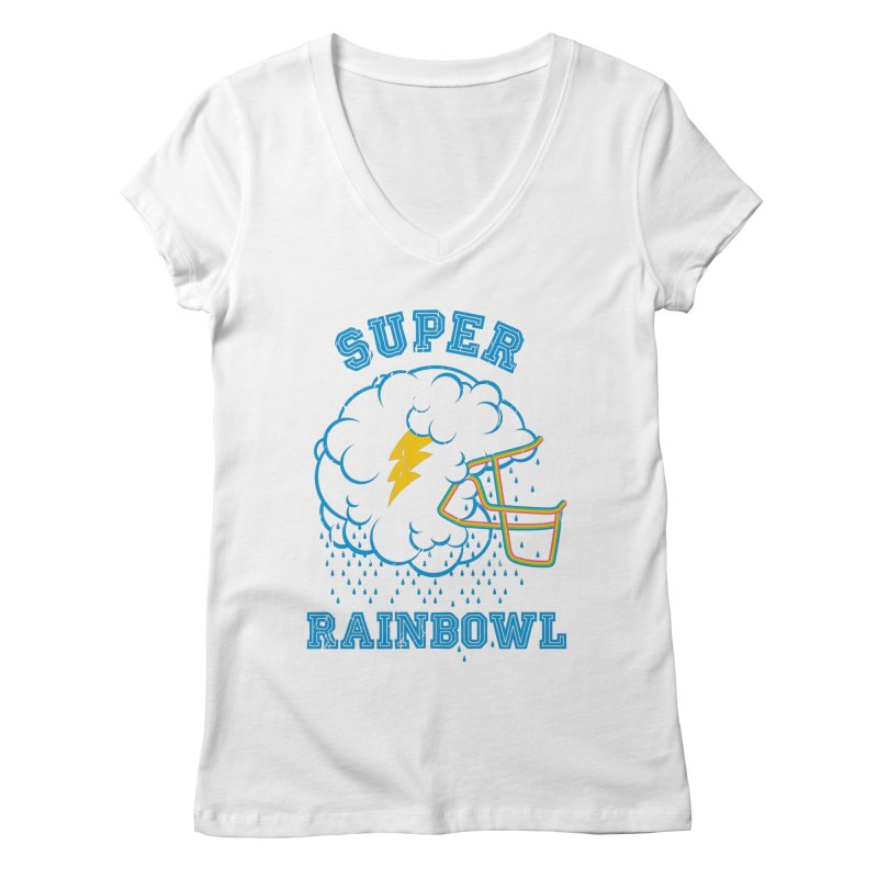 Super Rainbowl Women's V-Neck by dracoimagem's Artist Shop