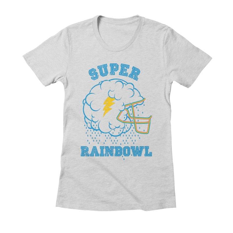 Super Rainbowl Women's Fitted T-Shirt by dracoimagem's Artist Shop