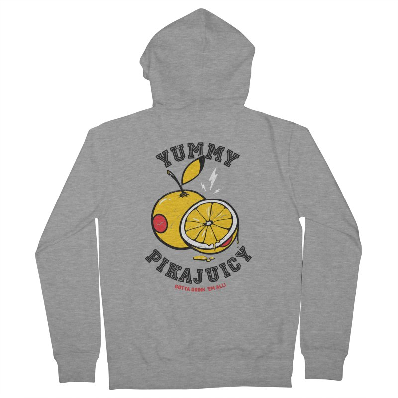 Pikajuicy Men's Zip-Up Hoody by dracoimagem's Artist Shop