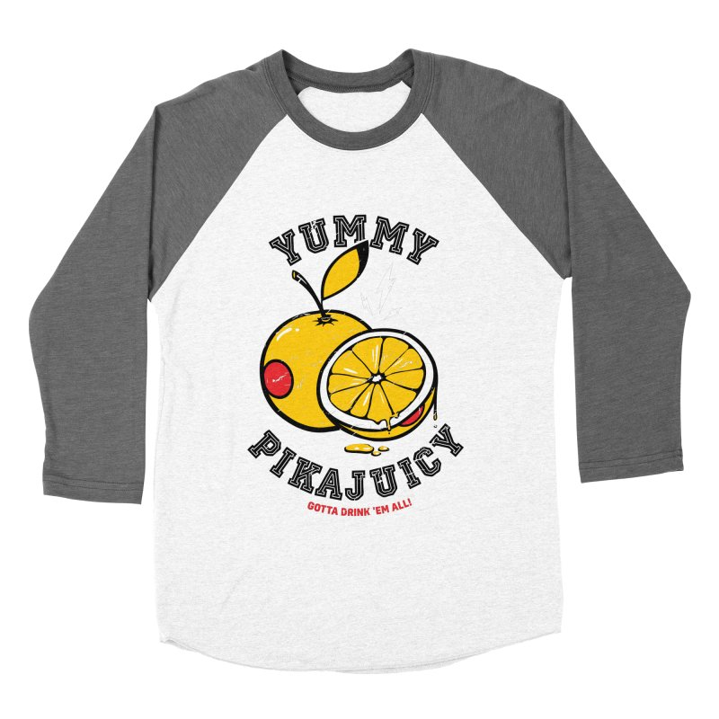 Pikajuicy Women's Baseball Triblend T-Shirt by dracoimagem's Artist Shop