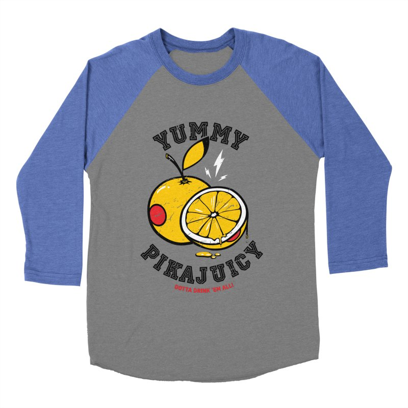 Pikajuicy Men's Baseball Triblend T-Shirt by dracoimagem's Artist Shop