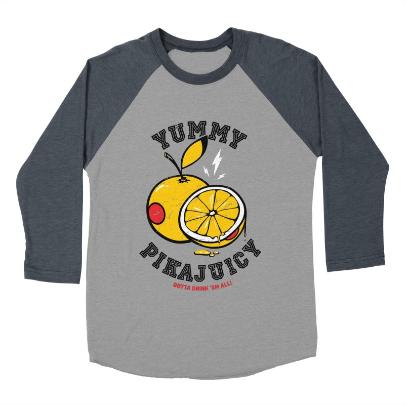 Pikajuicy Men's Baseball Triblend T-Shirt by dracoimagem's Artist Shop
