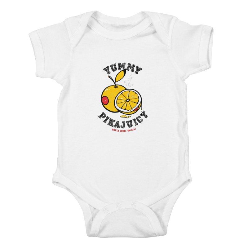 Pikajuicy Kids Baby Bodysuit by dracoimagem's Artist Shop