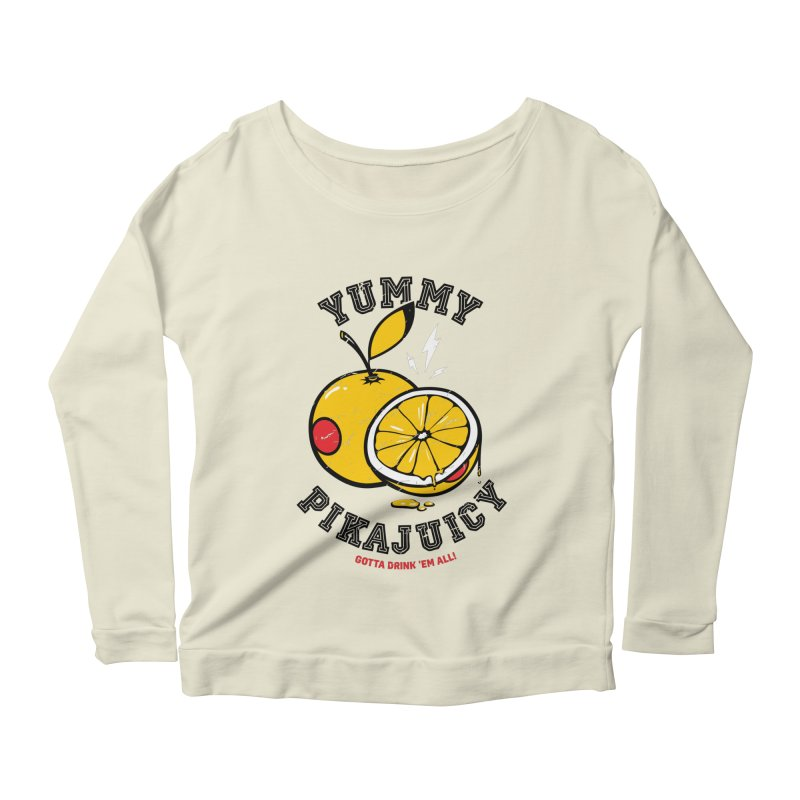 Pikajuicy Women's Longsleeve Scoopneck  by dracoimagem's Artist Shop