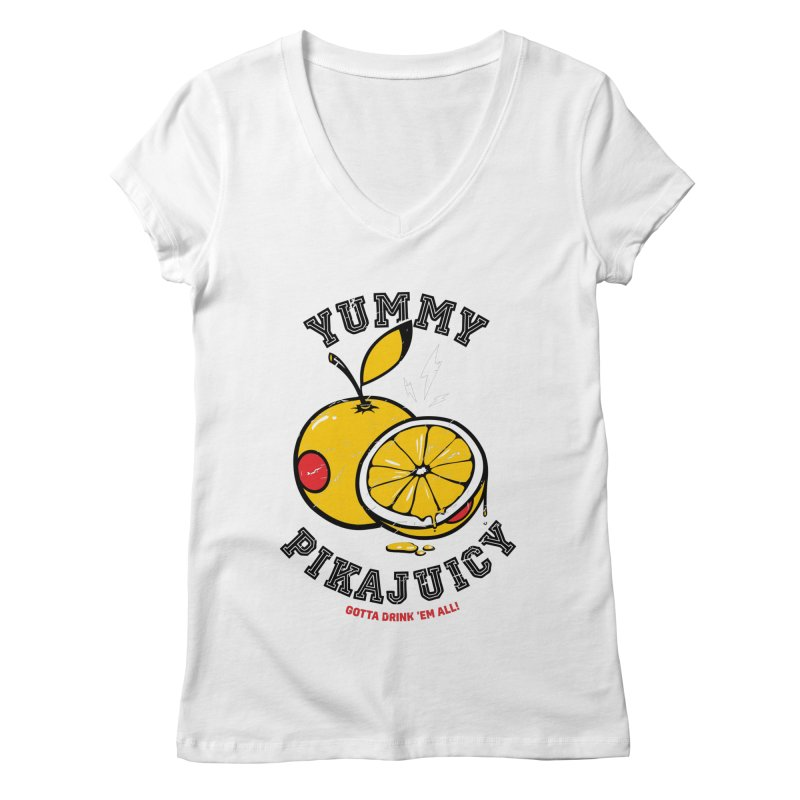 Pikajuicy Women's V-Neck by dracoimagem's Artist Shop