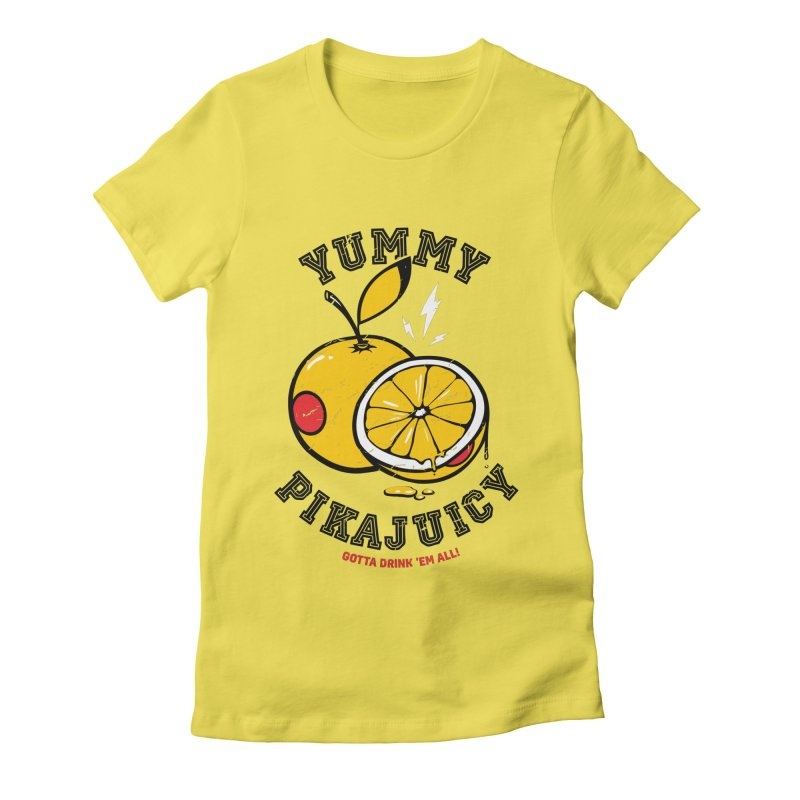 Pikajuicy Women's Fitted T-Shirt by dracoimagem's Artist Shop