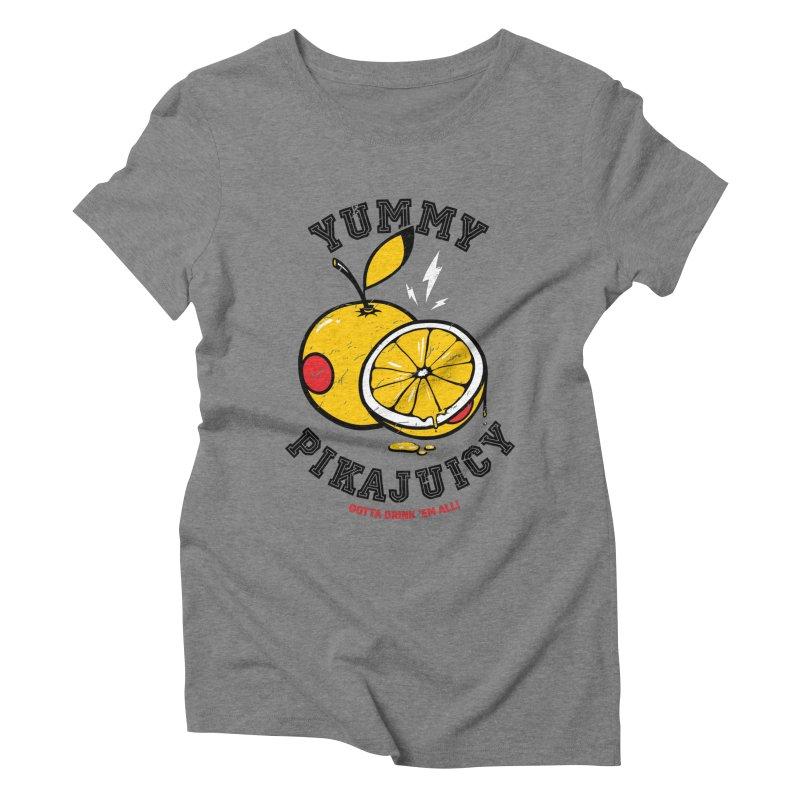 Pikajuicy Women's Triblend T-shirt by dracoimagem's Artist Shop