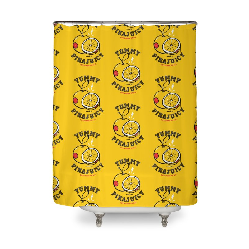 Pikajuicy Home Shower Curtain by dracoimagem's Artist Shop