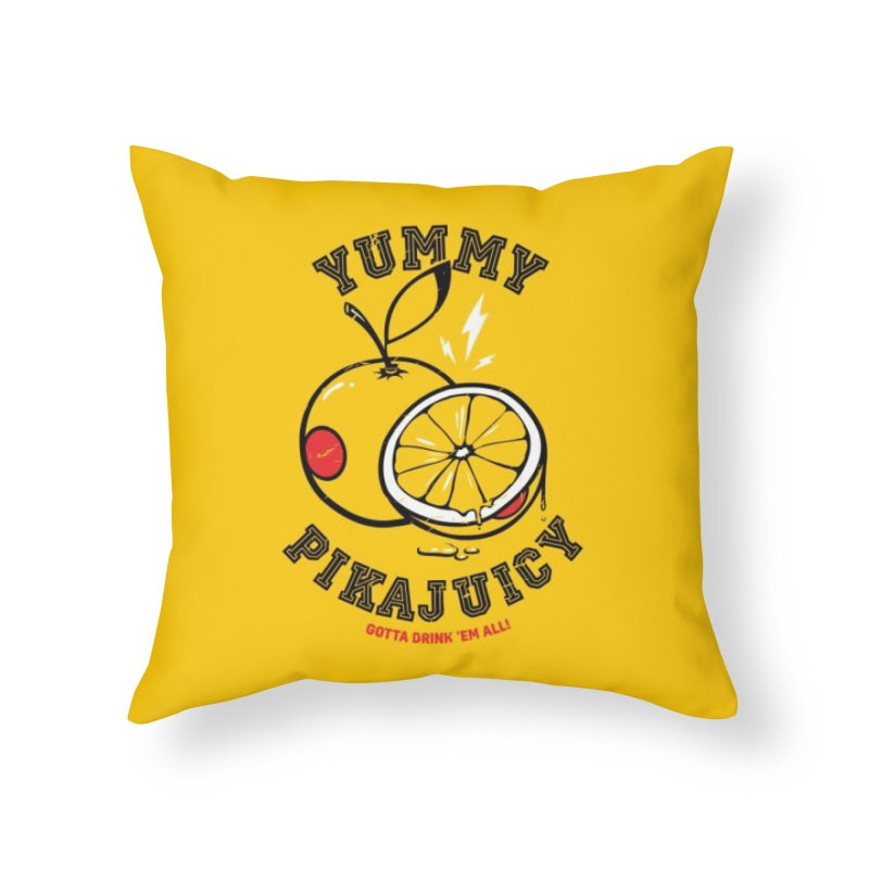Pikajuicy Home Throw Pillow by dracoimagem's Artist Shop