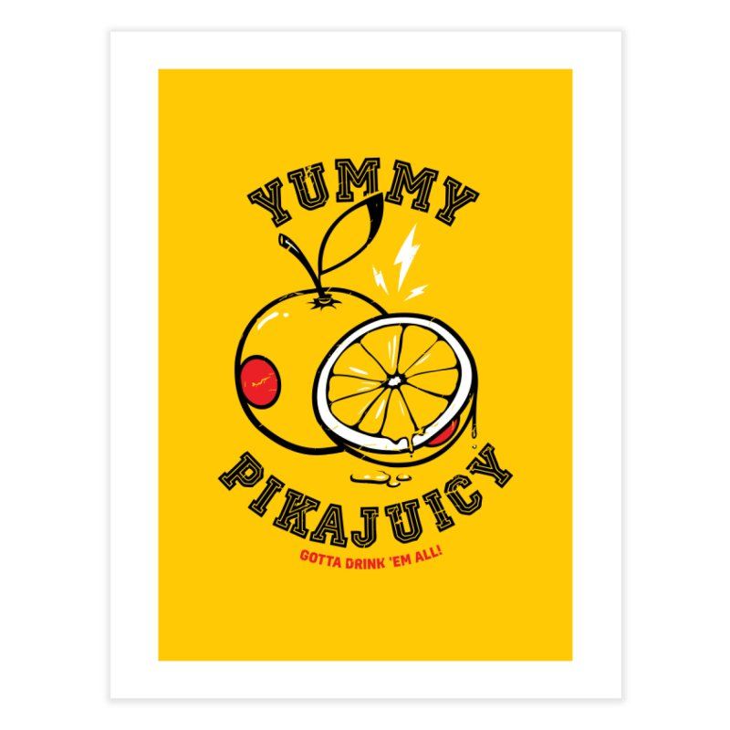 Pikajuicy Home Fine Art Print by dracoimagem's Artist Shop