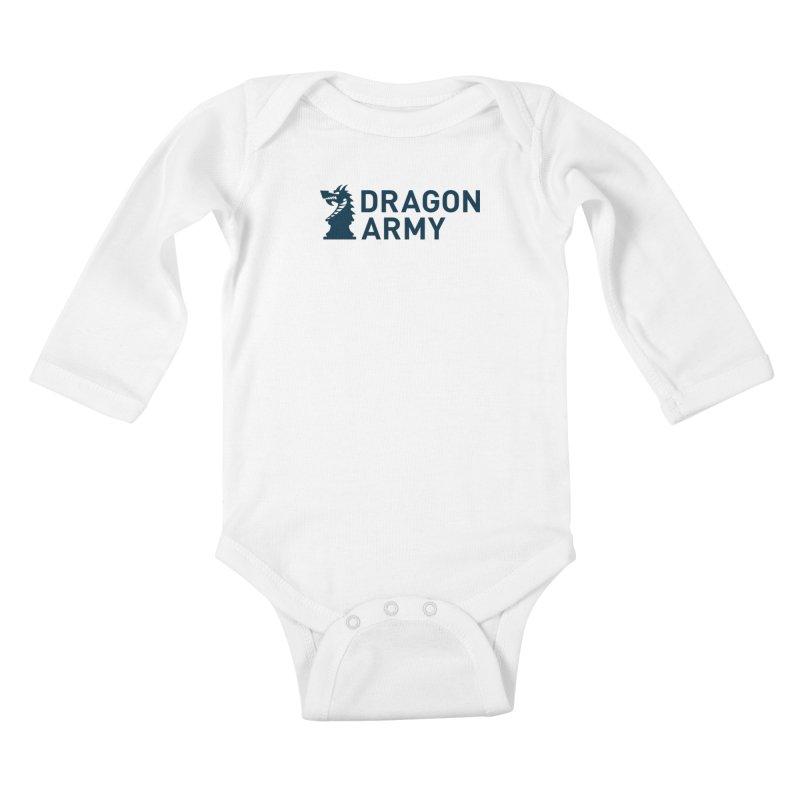 Classic - Dark Kids Baby Longsleeve Bodysuit by Dragon Army Gear