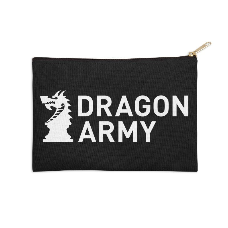 Classic - White Accessories Zip Pouch by Dragon Army Gear