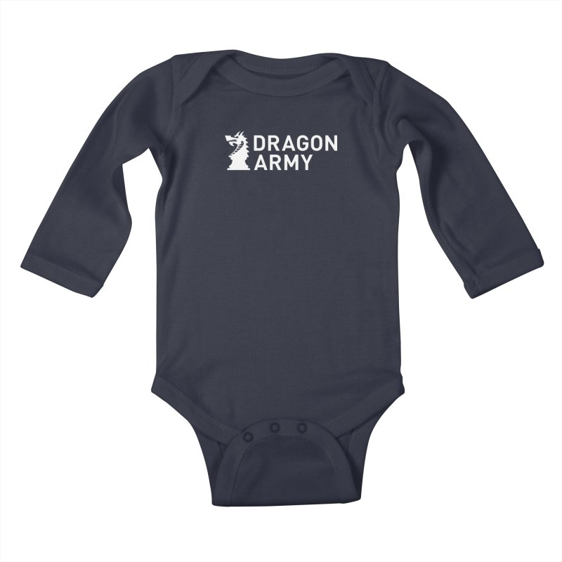 Classic - White Kids Baby Longsleeve Bodysuit by Dragon Army Gear
